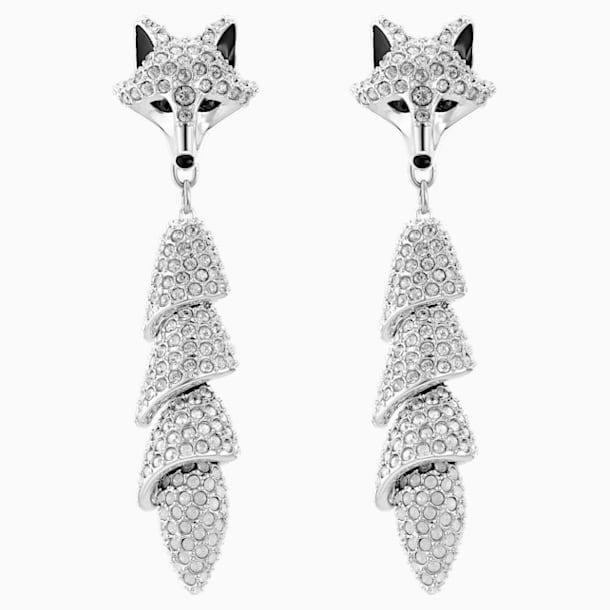Polar Bestiary 水滴形穿色耳環, 多色設計, 鍍銠 - Swarovski, 5510844