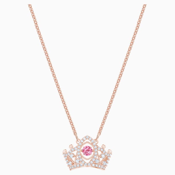 Bee A Queen Pendant, Red, Rose-gold tone plated - Swarovski, 5510986