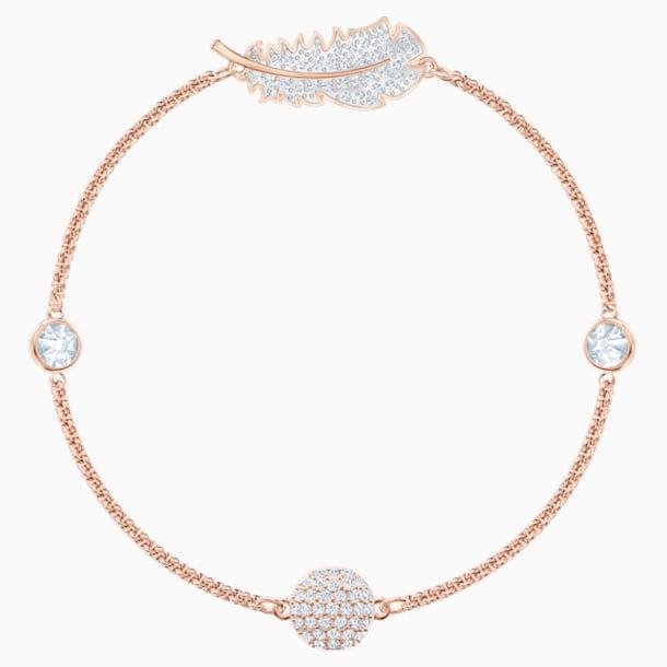 Swarovski Remix Collection Feather Strand, Белый Кристалл, Покрытие оттенка розового золота - Swarovski, 5511003