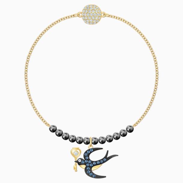 Swarovski Remix Collection Swallow Strand, Multi-colored, Gold-tone plated - Swarovski, 5511085