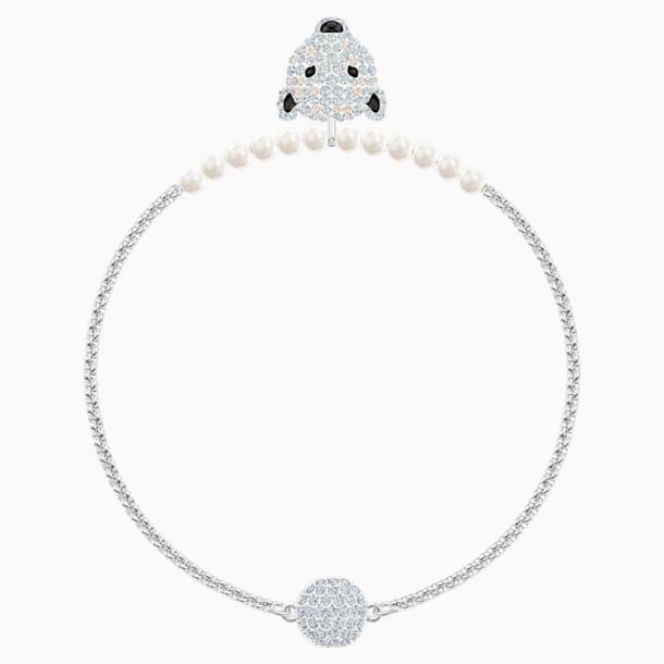 Polar Bestiary Bracelet, White, Rhodium plated - Swarovski, 5511100