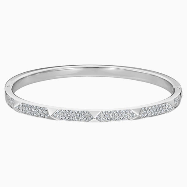 Tactic Bangle, White, Stainless steel - Swarovski, 5511390