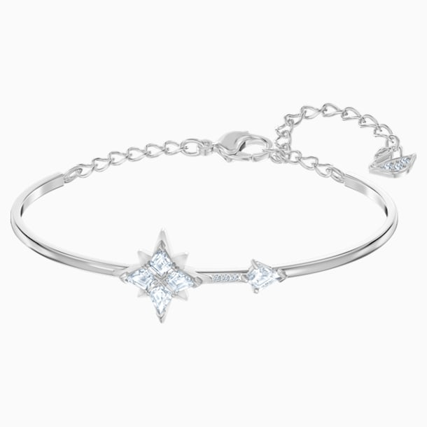 Swarovski Symbolic Bangle, White, Rhodium plated - Swarovski, 5511401