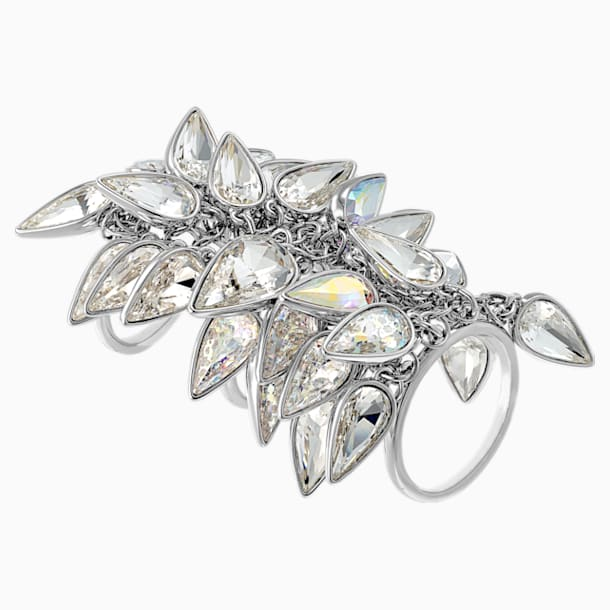 Polar Bestiary Cocktail Ring, Multi-colored, Rhodium plated - Swarovski, 5511424
