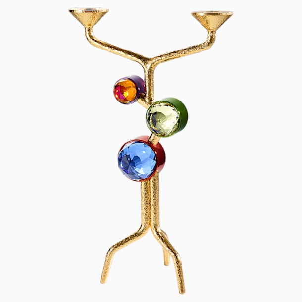 Arbol Two-candle Candelabra, Multicolored - Swarovski, 5511522