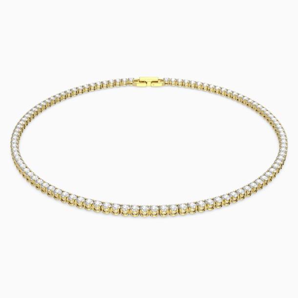 Tennis Deluxe Necklace, White, Gold-tone plated - Swarovski, 5511545