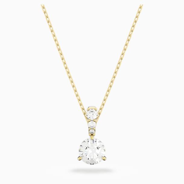 Solitaire Подвеска, Белый Кристалл, Покрытие оттенка золота - Swarovski, 5511557