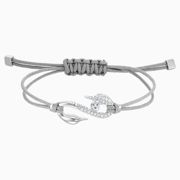 Swarovski Power Collection Hook Bracelet, Grey, Rhodium plated - Swarovski, 5511778