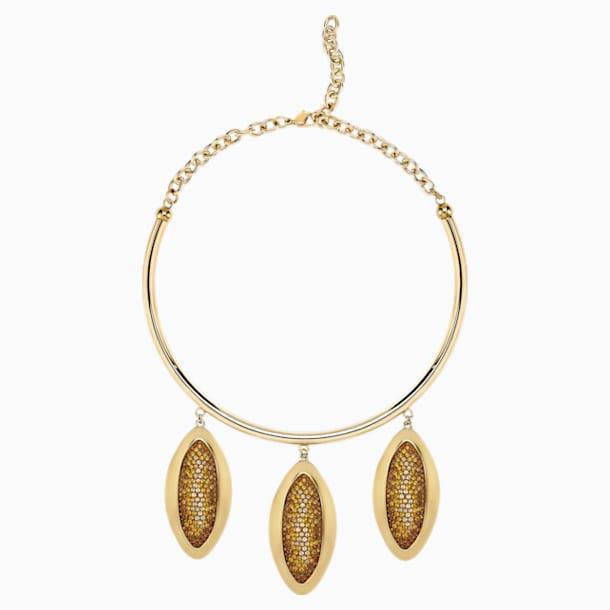 Collar distintivo Evil Eye, marrón, Baño en tono Oro - Swarovski, 5511797