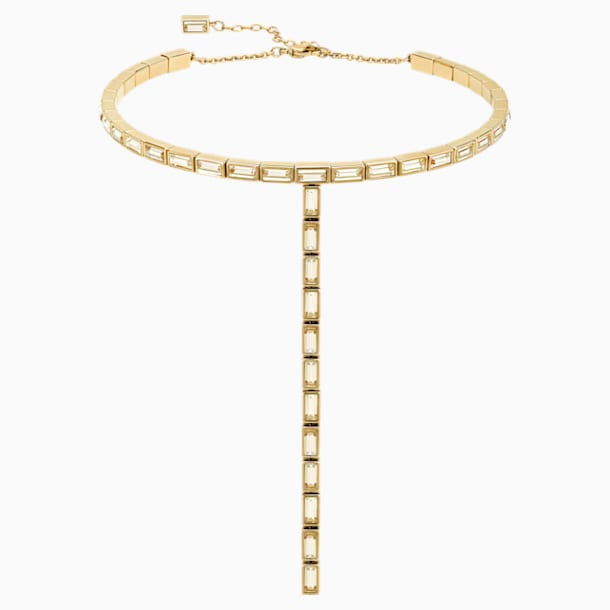 Collar Fluid, marrón, Baño en tono Oro - Swarovski, 5511891