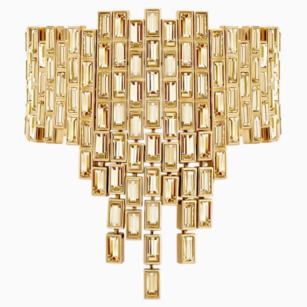 Fluid Statement Bracelet, Brown, Gold-tone plated - Swarovski, 5511932