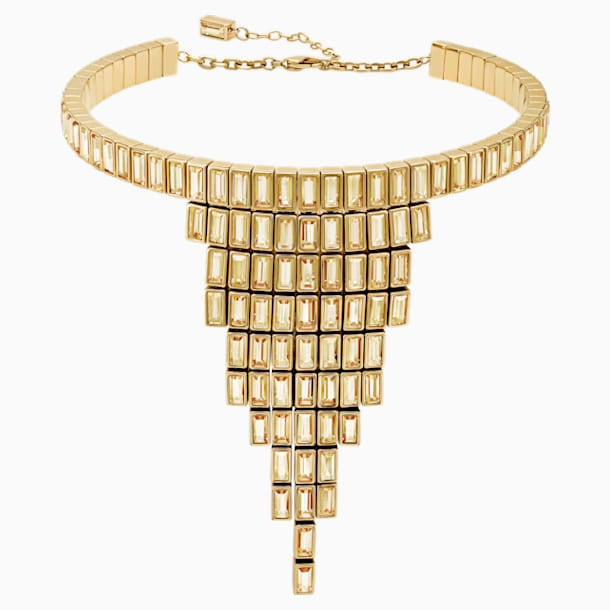 Collar distintivo Fluid, marrón, Baño en tono Oro - Swarovski, 5511939