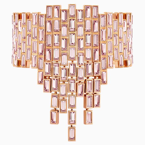 Fluid Statement Bracelet, Violet, Rose-gold tone plated - Swarovski, 5512005
