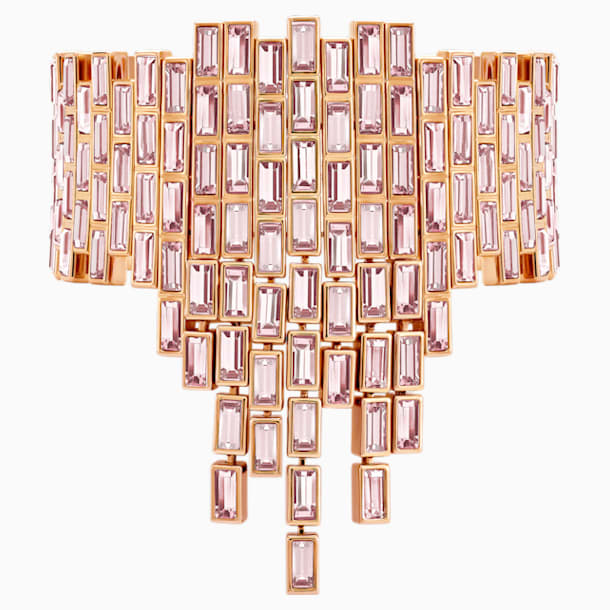 Fluid Statement Bracelet, Violet, Rose-gold tone plated - Swarovski, 5512005