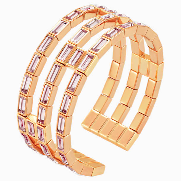 Fluid Cuff, Violet, Rose-gold tone plated - Swarovski, 5512019