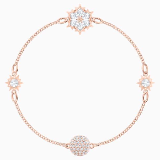 Łańcuszek Snowflake z Kolekcji Swarovski Remix, biały, w odcieniu różowego złota - Swarovski, 5512038