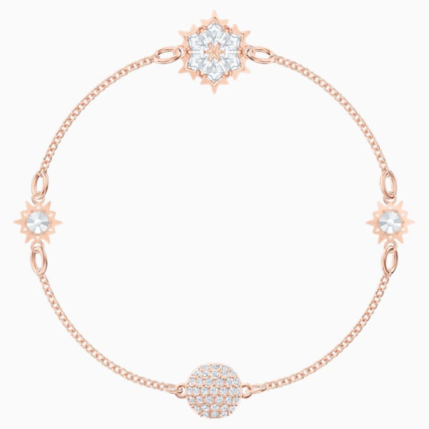 Swarovski Remix Collection Snowflake Strand, 白色, 镀玫瑰金色调 - Swarovski, 5512038