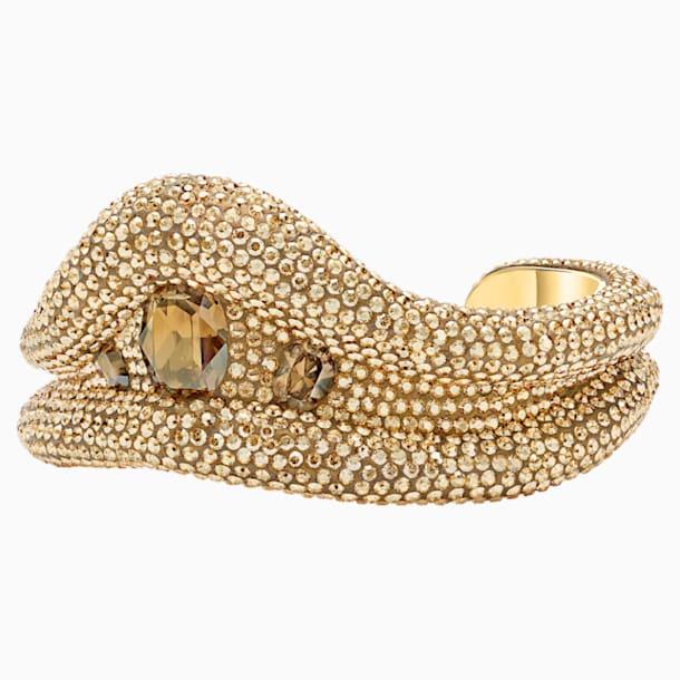 Manchette Tigris, ton doré, métal doré - Swarovski, 5512357