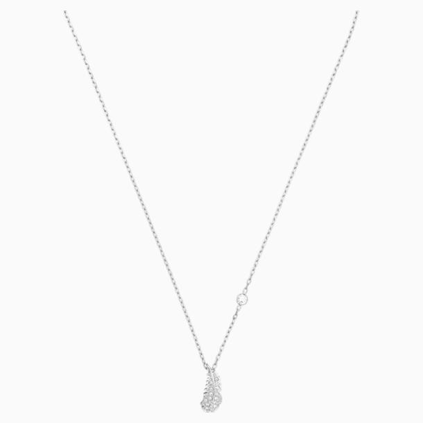 Naughty Necklace, White, Rhodium plated - Swarovski, 5512365