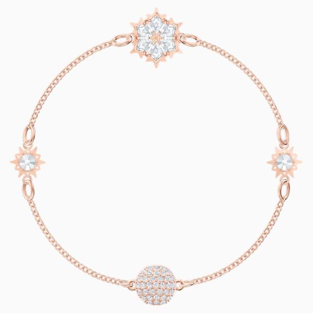 Σειρά Snowflake από τη Swarovski Remix Collection, λευκή, επιχρυσωμένη με ροζ χρυσό - Swarovski, 5512378