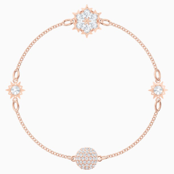 Swarovski Remix Collection Snowflake Strand, White, Rose-gold tone plated - Swarovski, 5512378