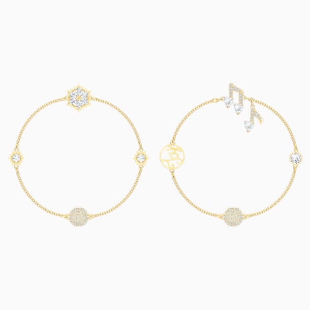 Swarovski Remix Collection Strand Set, White, Gold-tone plated - Swarovski, 5512383