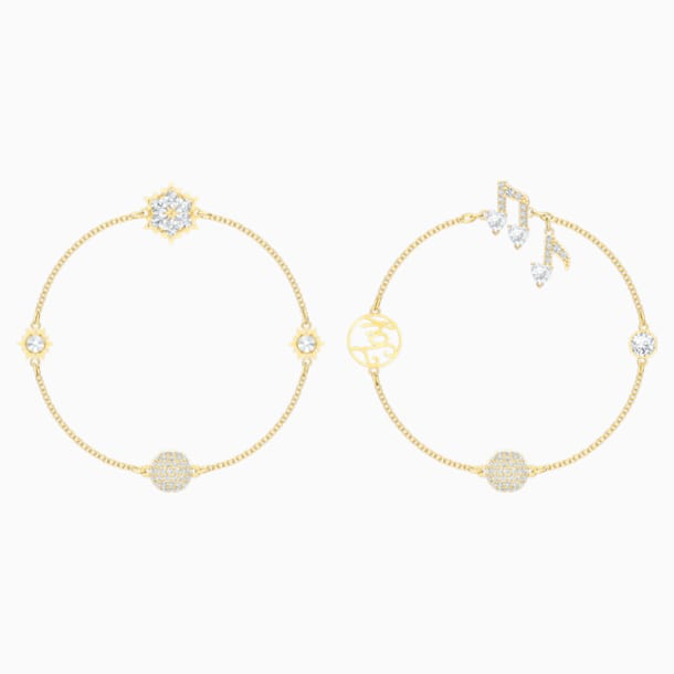 Swarovski Remix Collection Strand Set, blanco, Baño en tono Oro - Swarovski, 5512435