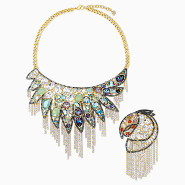 Shimmering Set, Dark multi-coloured, Mixed metal finish - Swarovski, 5512570