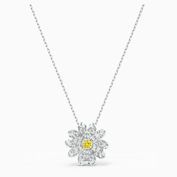 Eternal Flower Kolye Ucu, Sarı, Karışık metal bitiş - Swarovski, 5512662