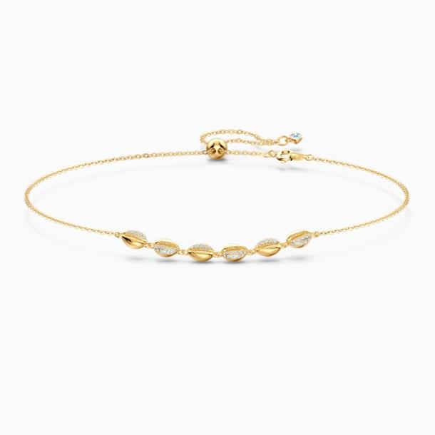 Obojkový náhrdelník Shell, bílý, pozlacený - Swarovski, 5512712