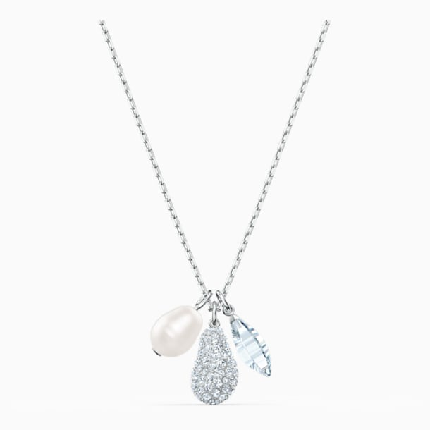 So Cool-clusterketting, Wit, Rodium-verguld - Swarovski, 5512732