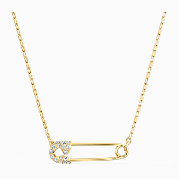 Collier So Cool Pin, blanc, métal doré - Swarovski, 5512760