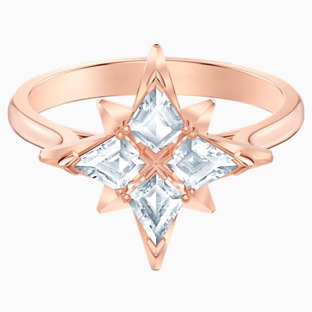 Swarovski Symbolic Star Motif Ring, White, Rose-gold tone plated - Swarovski, 5513217