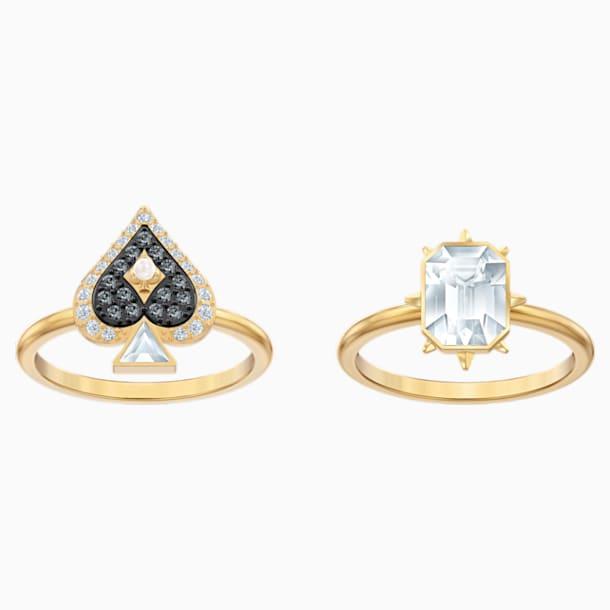 Tarot Magic 戒指套裝, 多色設計, 鍍金色色調 - Swarovski, 5513247