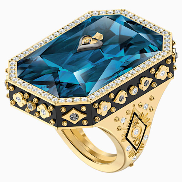 Tarot Magic Cocktail Ring, Blue, Gold-tone plated - Swarovski, 5513248