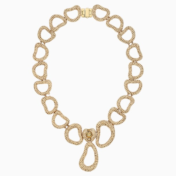 Tigris Necklace, Gold tone, Gold-tone plated - Swarovski, 5513784