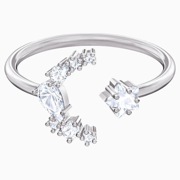 Moonsun Разомкнутое кольцо, Белый кристалл, Родиевое покрытие - Swarovski, 5513982