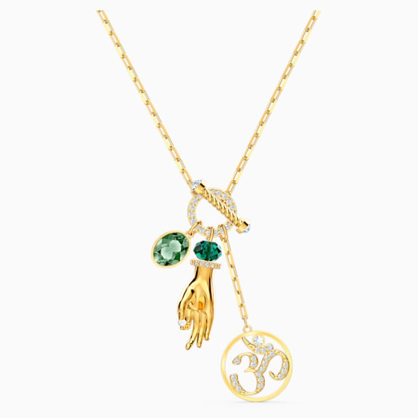 Swarovski Symbolic Hand Om Kolye Ucu, Yeşil, Altın rengi kaplama - Swarovski, 5514407
