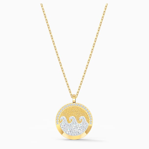 Shine Wave Подвеска, Мультицветный светлый Кристалл, Покрытие оттенка золота - Swarovski, 5514494