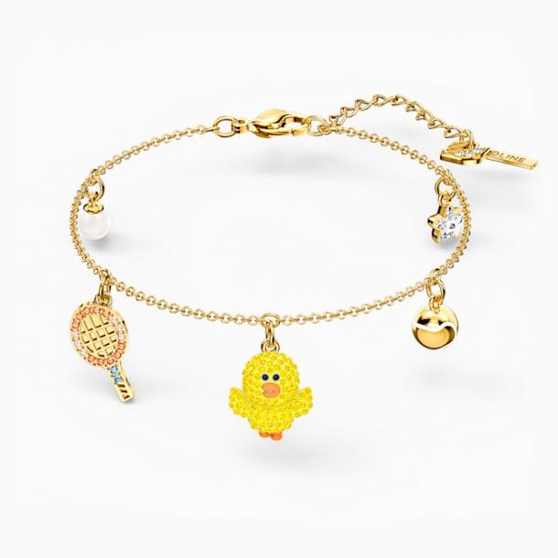 Line Friends Tennis Bracelet, Light multi-colored, Gold-tone plated - Swarovski, 5514516