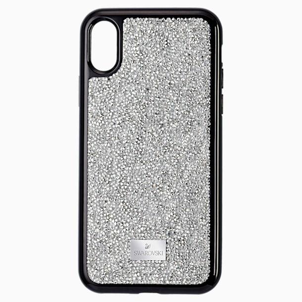 Etui na smartfona Glam Rock, iPhone® XS Max, w odcieniu srebra - Swarovski, 5515013
