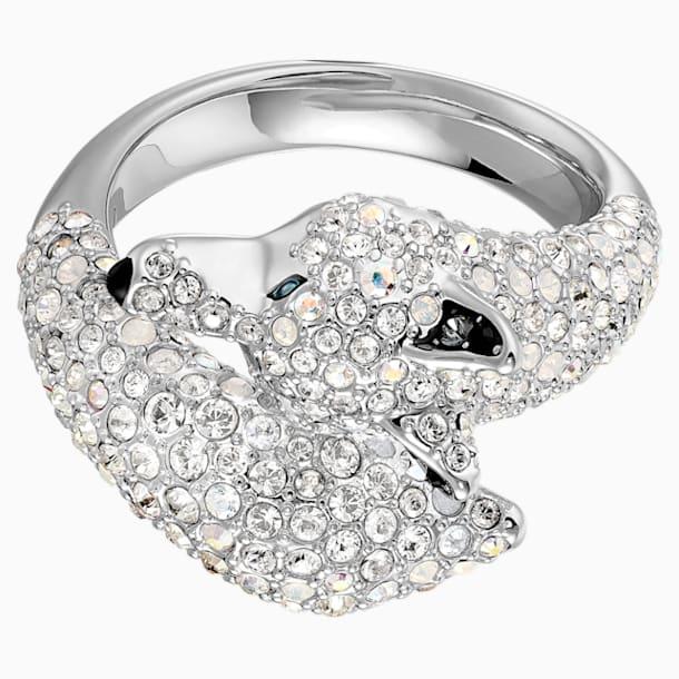 Koktejlový prsten s vlkem Polar Bestiary, Vícebarevný, Rhodiem pokovený - Swarovski, 5515091