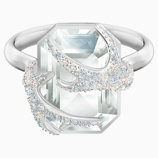 Polar Bestiary Cocktail Ring, Multi-colored, Rhodium plated - Swarovski, 5515093