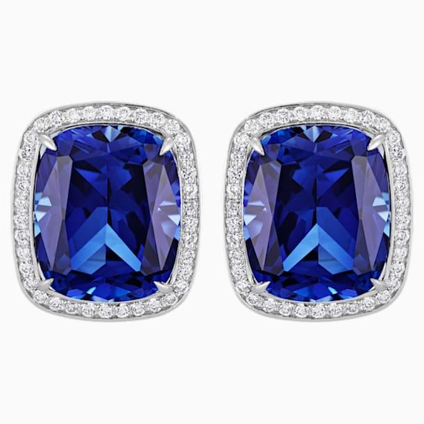 Ángel Stud Earrings, Swarovski Created Sapphire, 18K White Gold - Swarovski, 5515110
