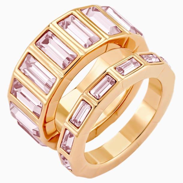 Fluid 疊戴介指, 紫羅蘭, 鍍玫瑰金色調 - Swarovski, 5515359