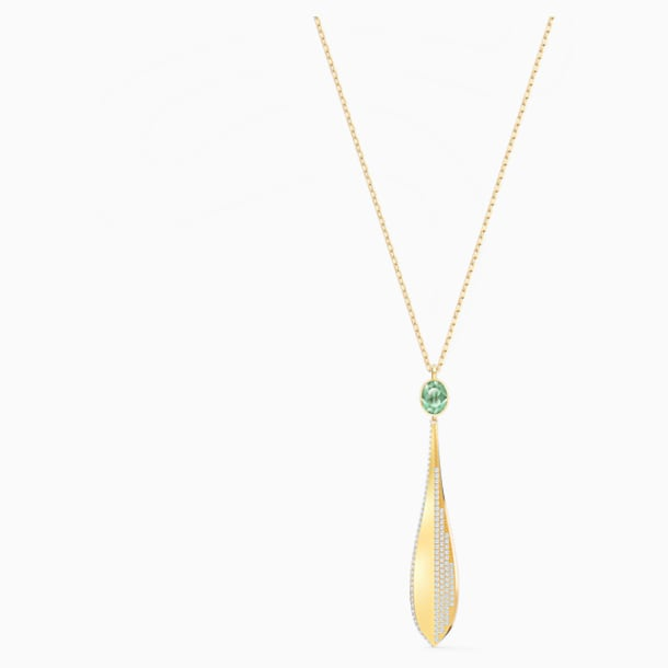 Stunning Olive Pendant, Green, Rose-gold tone plated - Swarovski, 5515463