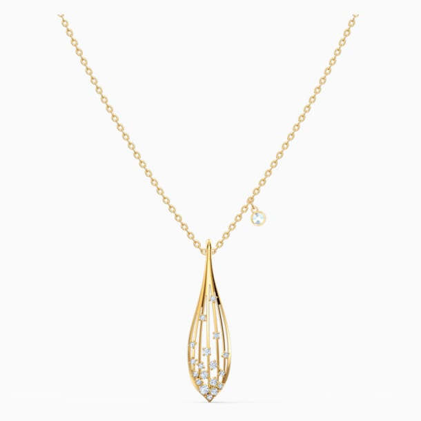 Stunning Olive Kolye Ucu, Beyaz, Altın rengi kaplama - Swarovski, 5515466