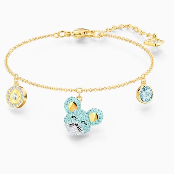 Little 手链, 海蓝色, 多种金属润饰 - Swarovski, 5515770