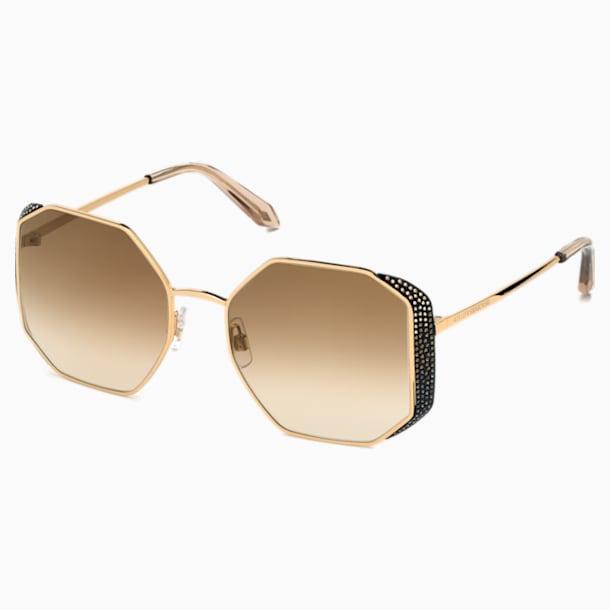 Moselle Octogonal Sunglasses, SK238-P 30G, Brown - Swarovski, 5515895