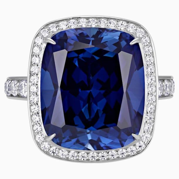 Ángel Halo Ring, Swarovski Created Sapphire, 18K White Gold, Size 55 - Swarovski, 5516299
